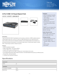Tripp Lite 4-Port USB 3.0 SuperSpeed Hub