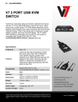 V7 KS211-2N KVM switch