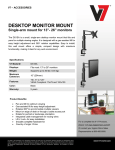 V7 DS1SA flat panel desk mount