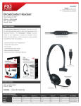 dreamGEAR Broadcaster Headset for PS3
