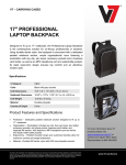 V7 Professional Backpack 17