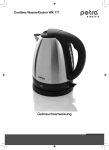 Petra WK 171.35 electrical kettle
