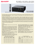 Sharp XG-C465X-L data projector