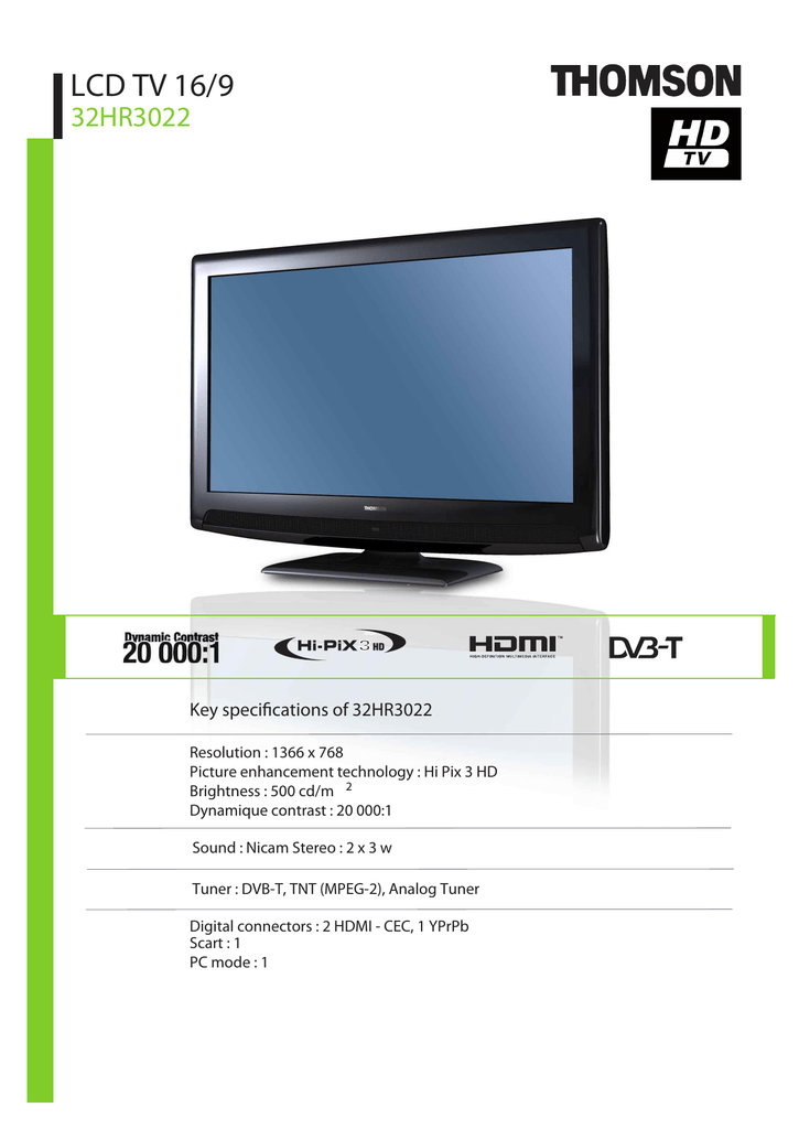 Thomson 32HR3022 LCD TV