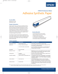Epson Enhanced Adhesive Synthetic Paper 44