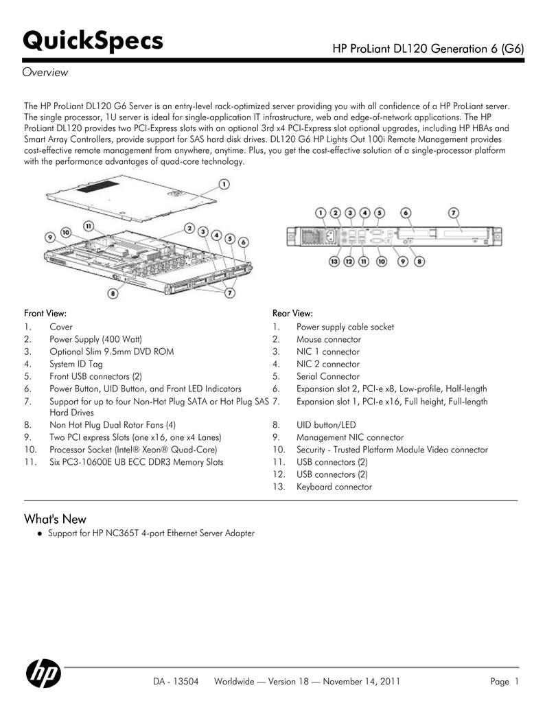 HP ProLiant 490932-421 server