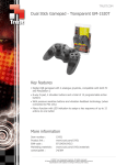 Trust Dual Stick Gamepad - Transparent GM-1520T
