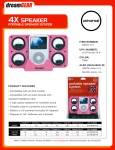 dreamGEAR i.Sound 4X Foldable Portable Speaker