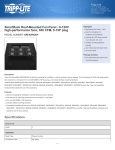 Tripp Lite SmartRack Roof-Mounted Fan Panel - 6-120V high-performance fans; 630 CFM, 5-15P plug