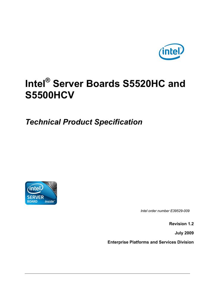 Intel S5500HCV