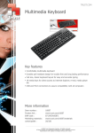 Trust Multimedia Keyboard, 5 Pack