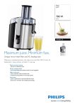 Philips Aluminium Collection Juicer HR1861/20