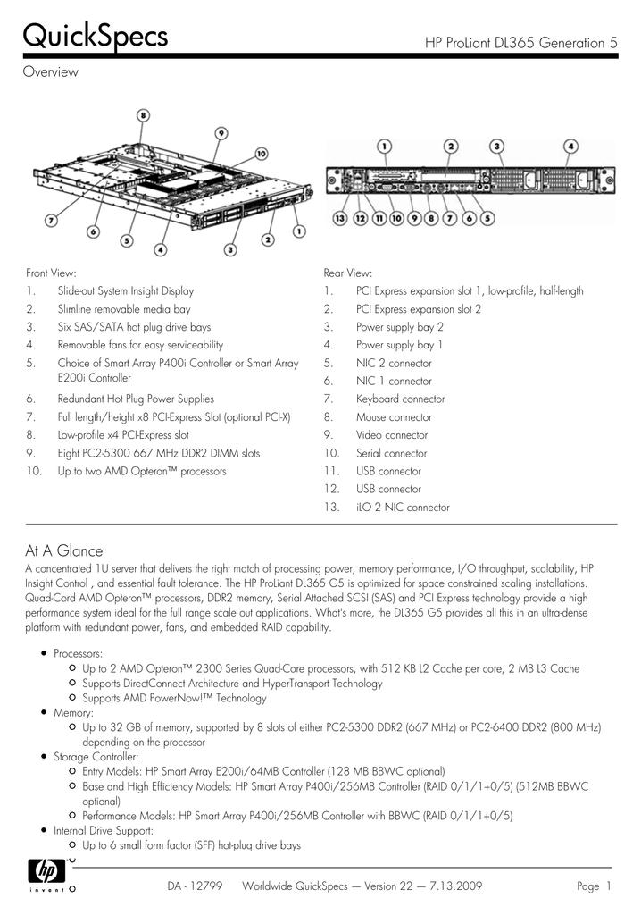 HP ProLiant DL365 G5