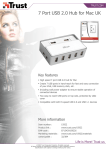 Trust 7 Port USB 2.0 Hub for Mac UK