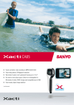 Sanyo Waterproof Digital Movie Camera Xacti VPC-CA65, Blue