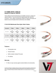 V7 62.5/125 Multimode Fiber-Optic Patch Cable LC/LC 1.0m