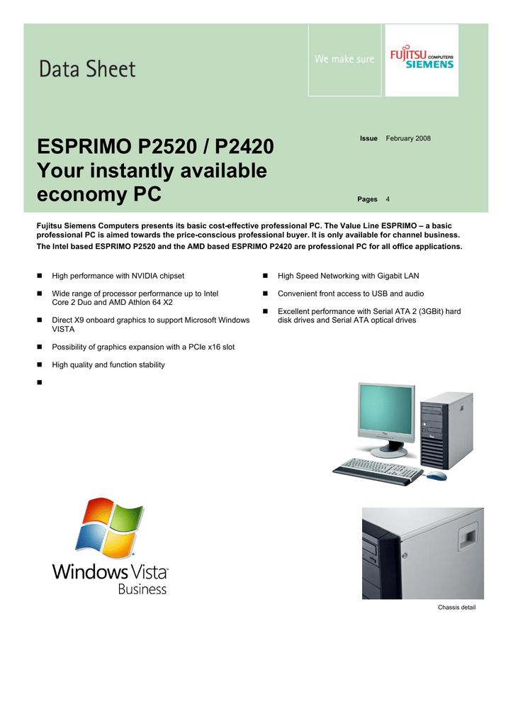 Fujitsu ESPRIMO Edition P2520