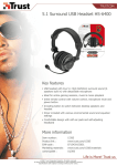 Trust 5.1 Surround USB Headset HS-6400