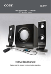 Coby 75-Watt High-Performance Speaker System for Digital Media Players