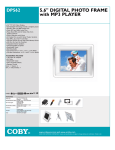 Coby DP562 digital photo frame