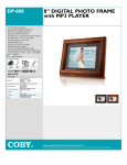 "Coby 8"" (4:3) Digital Photo Frame"