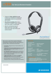Sennheiser CC-550 Binaural Headset - Cable Connectivity