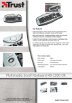 Trust Multimedia Scroll Keyboard KB-2200 UK