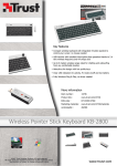 Trust Wireless Pointer Stick Keyboard KB-2800 BE