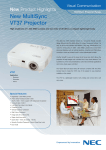 NEC Ultra Portable Projector MultiSync VT37