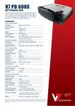 V7 PD600S data projector
