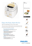 Philips HD6145 2400W, auto-shut off, timer Deep-fat fryer