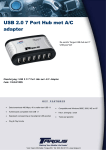 Targus USB 2.0 7-Port Hub with AC Adapter