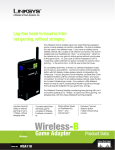 Linksys Wless Game Adapter