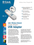 D-Link Adapter USB 802.11b 11Mbps Wless 2.4GHz