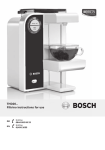 Bosch THD2063GB water dispencer