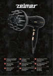 Zelmer HD1500 hair dryer
