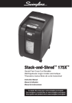 Swingline Stack-and-Shred 175X