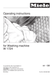 Miele W1724 washing machine