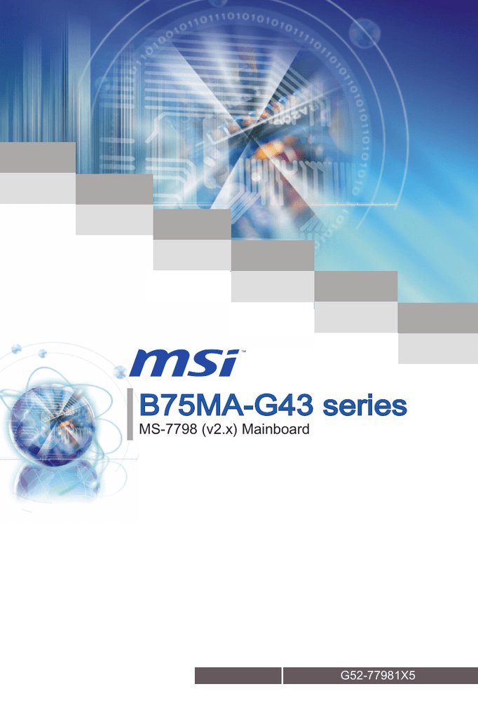 MSI B75MA-G43 Intel Smart Connect Technology Drivers for Windows Mac