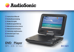 AudioSonic Portable DVD-player 7''