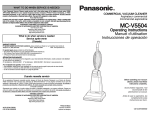 Panasonic MC-V5504 vacuum cleaner