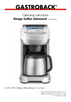 Gastroback Design Coffee Advanced - Grind & Brew -