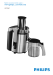 Philips Aluminium Collection Juicer HR1861