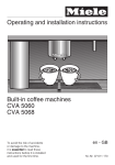 Miele CVA5060 coffee maker
