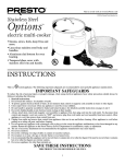 Presto 06020 deep fryer