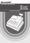 Sharp XEA407 cash register