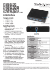 StarTech.com 4 Port Black SuperSpeed USB 3.0 Hub
