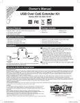 Tripp Lite 1-Port USB over Cat5/Cat6 Extender, Transmitter and Receiver, up to 150-ft.