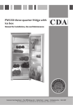 CDA FW550 combi-fridge