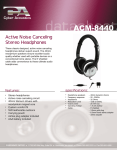 Cyber Acoustics ACM-8440 headphone